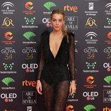 Belén Écija en la alfombra roja de los Premios Goya 2020