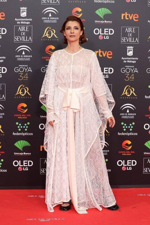 Najwa Nimri posa en la alfombra roja de los Premios Goya 2020