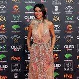 Goya Toledo posa en la alfombra roja de los Premios Goya 2020