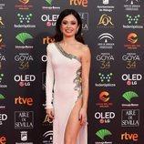 Anna Castillo posa en la alfombra roja de los Premios Goya 2020