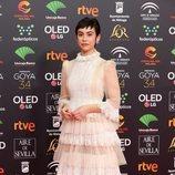 Greta Fernández posa en la alfombra roja de los Premios Goya 2020