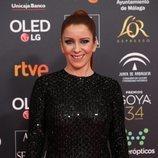Eva Llorach posa en la alfombra roja de los Premios Goya 2020