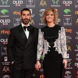 Manuel Zamorano y María Casado en la alfombra roja de los Premios Goya 2020