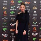 Ainhoa Santamaría posa en la alfombra roja de los Premios Goya 2020