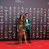 Macarena Gómez y Aldo Coma en la alfombra roja de los Premios Goya 2020
