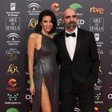 Luis Tosar y  María Luisa Mayol, posan juntos en la alfombra roja de los Premios Goya 2020
