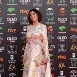 María Barranco posa en la alfombra roja de los Premios Goya 2020