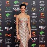 Clara Lago en la alfombra roja de los Premios Goya 2020