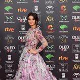 Penélope Cruz posa en la alfombra roja de los Premios Goya 2020