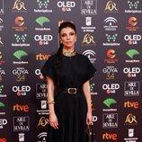 Maribel Verdú posa en la alfombra roja de los Premios Goya 2020