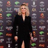 Miriam Díaz Aroca posa en la alfombra roja de los Premios Goya 2020