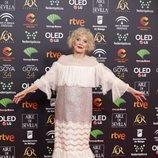 Marisa Paredez posa en la alfombra roja de los Premios Goya 2020