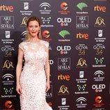 Maria Esteve posa en la alfombra roja de los Premios Goya 2020