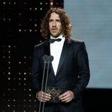 Carles Puyol en la gala de los Premios Goya 2020