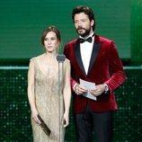Álvaro Morte y Marta Etura en la gala de los Premios Goya 2020