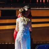 María Esteve felicita a Amaia por su actuación en la gala de los Premios Goya 2020