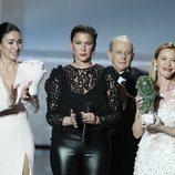 Celia Flores, Tamara Flores y María Esteve en los Premios Goya 2020