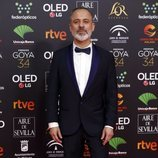 Javier Gutiérrez posa en la alfombra roja de los Premios Goya 2020
