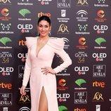 Celia Flores posa en la alfombra roja de los Premios Goya 2020