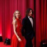 Carles Puyol y Vanesa Lorenzo en la alfombra roja de los Premios Goya 2020