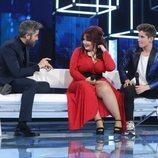 Roberto Leal junto a Ariadna y Nick en la Gala 2 de 'OT 2020'
