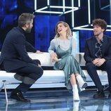 Roberto Leal junto a Samantha y Jesús en la Gala 2 de 'OT 2020'