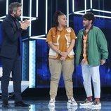 Roberto Leal junto a Eli y Rafa, nominados de la Gala 2 de 'OT 2020'