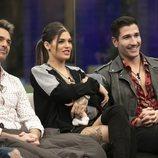 Hugo Castejón, Nuria Martínez y Gianmarco Onestini en la Gala 3 de 'El tiempo del descuento'