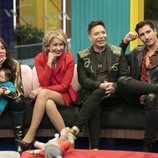 Anabel Pantoja, Mila Ximénez, Maestro Joao y Gianmarco Onestini en la Gala 3 de 'El tiempo del descuento'