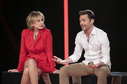 Mila Ximénez y Hugo Castejón en la Gala 3 de 'El tiempo del descuento'