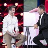 Hugo Castejón es entrevistado por Jorge Javier Vázquez en la Gala 3 de 'El tiempo del descuento'
