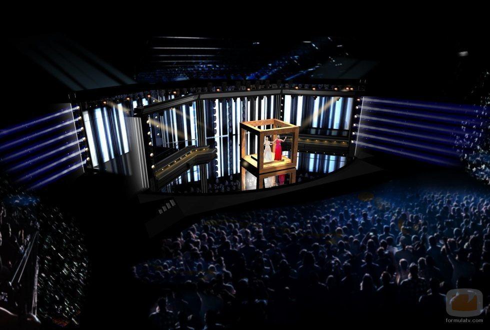 El diseño del escenario del Melodifestivalen 2020