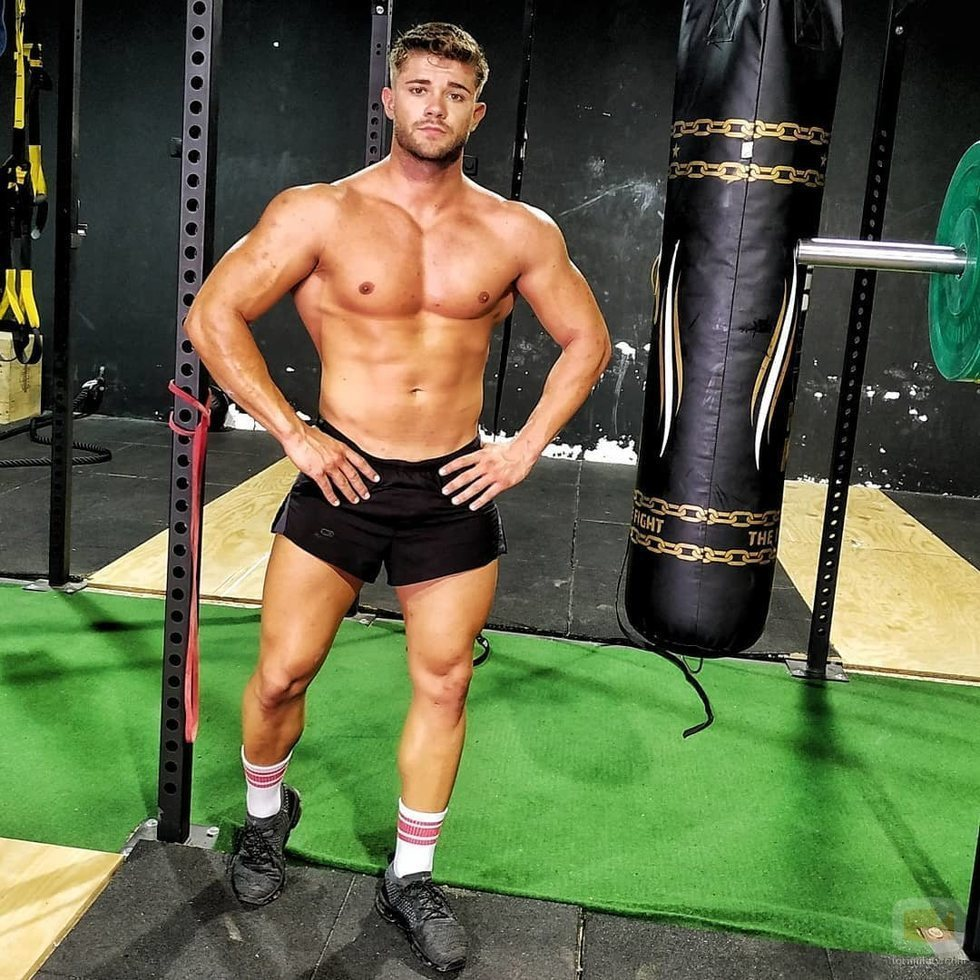 Ismael Nicolás ('La isla de las tentaciones'), muy sexy en el gimnasio