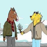 BoJack y Mr. Peanutbutter en la temporada final de 'BoJack Horseman'