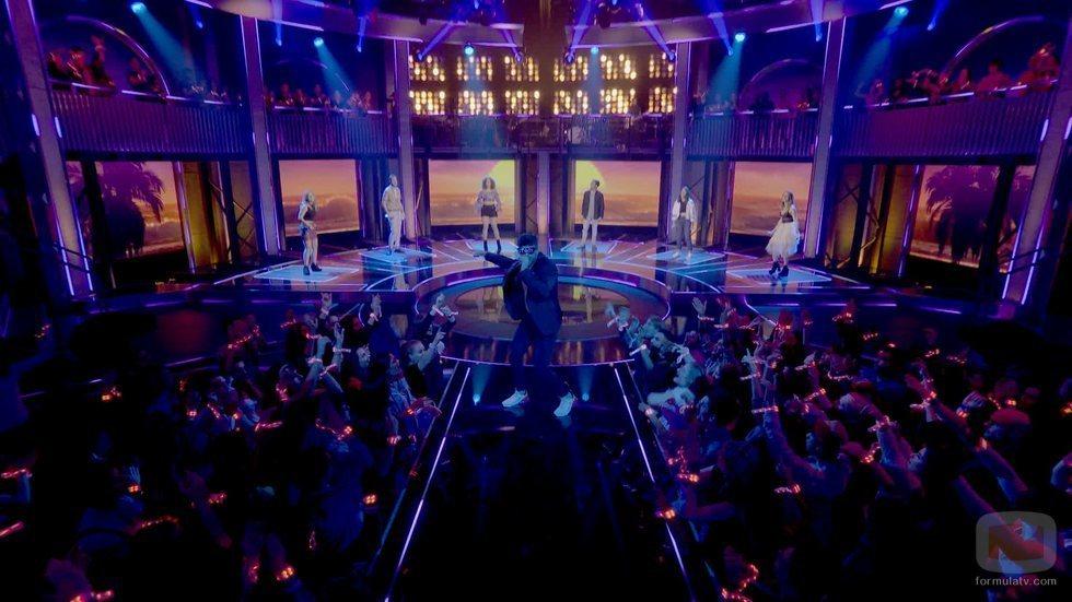 Ricky Merino durante uno de los programas de '¡A cantar!'