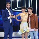 Roberto Leal con los nominados de la Gala 3 de 'OT 2020'