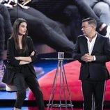 Estela Grande molesta y Jorge Javier Vázquez en la Gala 4 de 'El tiempo del descuento'
