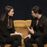 Estela Grande y Kiko Jiménez se encuentran en la Gala 4 de 'El tiempo del descuento'
