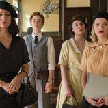 Lidia, Óscar, Marga y Carlota en la quinta temporada de 'Las chicas del cable'