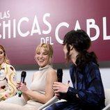 Blanca Suárez, Ana Fernández y Nadia de Santiago en la presentación de 'Las chicas del cable 5'