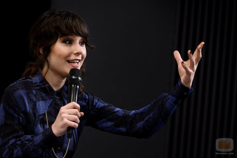 Nadia de Santiago en la presentación de 'Las chicas del cable 5'