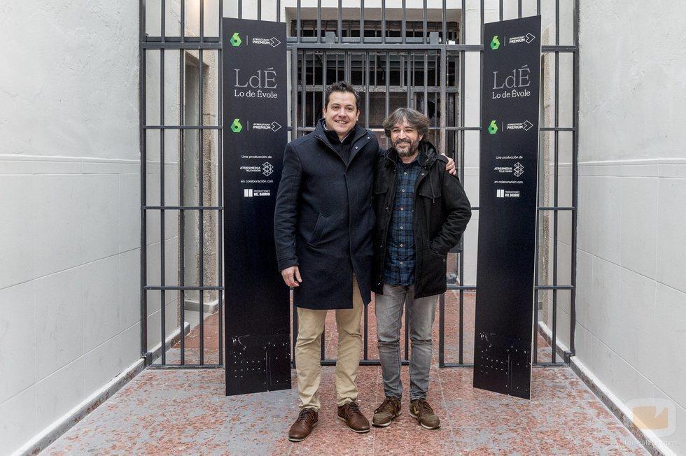 Jordi Évole con Mario López en la presentación de 'Lo de Évole'
