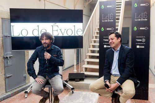 Jordi Évole y Mario López, en la presentación de 'Lo de Évole'