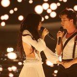 Nerea Rodríguez y Raoul Vázquez imitan a Camila Cabello y Shawn Mendes en la Gala 5 de 'Tu cara me suena 8'