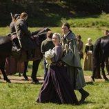 Fergus y Marsali en la quinta temporada de 'Outlander'