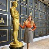 Gisela en la rueda de prensa de los Premios Oscar 2020