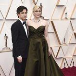 Noah Baumbach y Greta Gerwig posan en la alfombra roja de los Oscar 2020