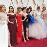 """Gisela y el resto de """"Elsas"""" de """"Frozen 2"""" en la alfombra roja de los Oscar 2020"""