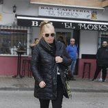 Belén Esteban camina cabizbaja tras la muerte de Fran Álvarez