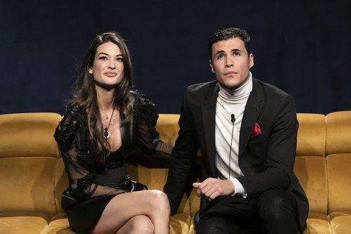 Estela Grande y Kiko Jiménez, en la Gala 5 de 'El tiempo del descuento'